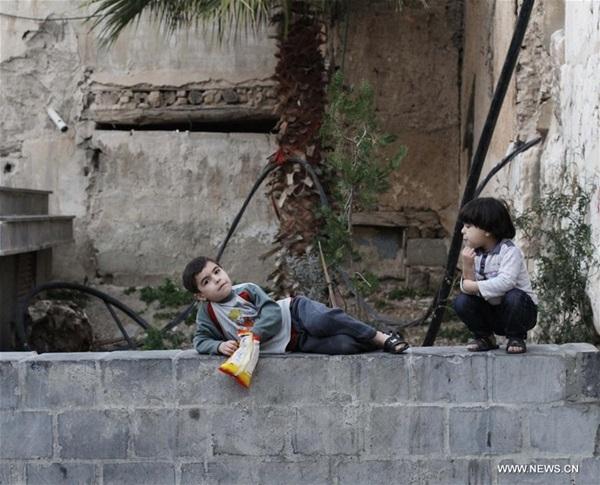الحي القديم في دمشق بعد وقف اطلاق النار