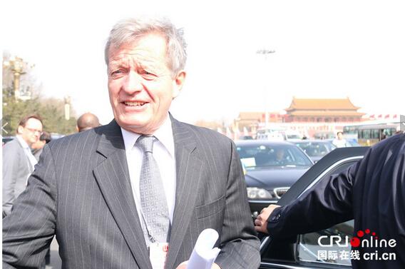 美国驻华大使鲍卡斯。摄影:黎萌