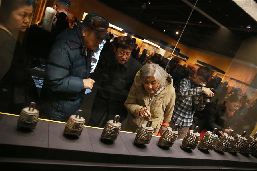 Plus de 400 objets funéraires du Marquis de Haihun présentés au Musée de la Capitale de Beijing