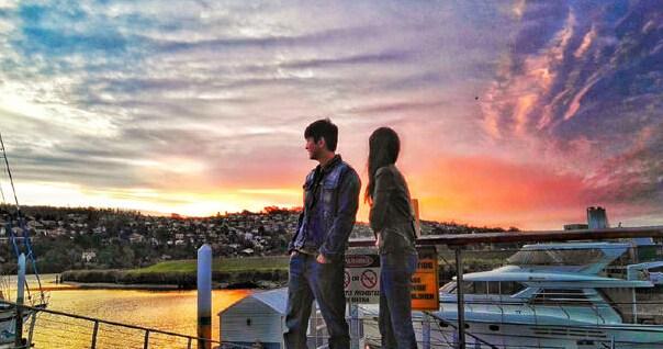 霍思燕夫妇澳大利亚海边度假拍照秀恩爱(图)