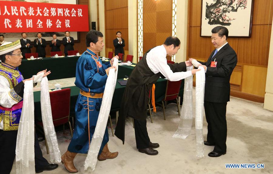 Le président Xi met l