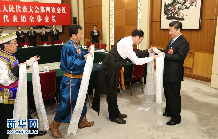 """قدم ثلاثة نواب من قوميات التبت ومنغوليا وتو للأمين العام شي منديل """"هادا"""""""