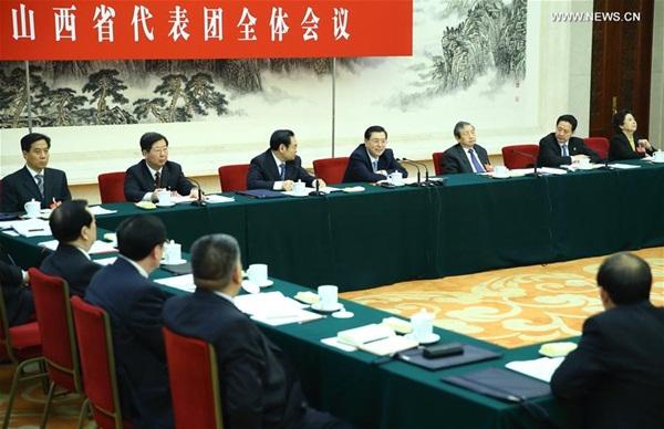 كبير المشرعين الصينيين تشانغ ده جيانغ ينضم إلى معرض الحديث مع المشرعين من مقاطعة شانشي