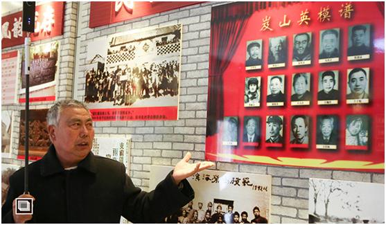 纪念馆讲解员王经臣用VR拍摄了展馆全貌。