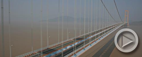 无人机航视频:舟山大陆连岛工程