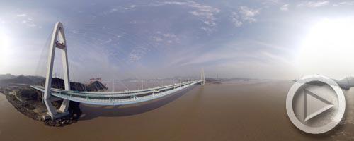 全景VR视角带您领略舟山跨海大桥的美景