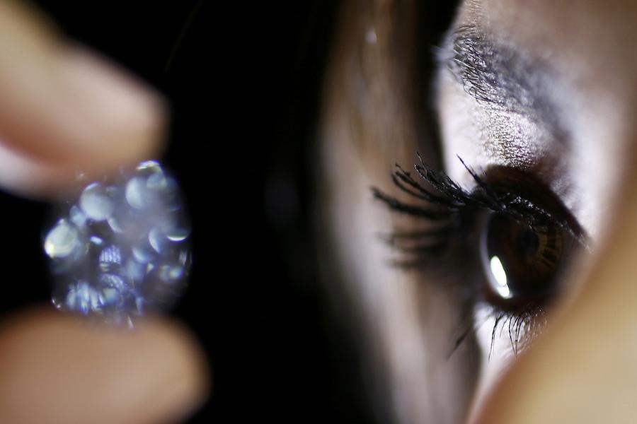 Un exceptionnel diamant bleu mis en vente chez Sotheby