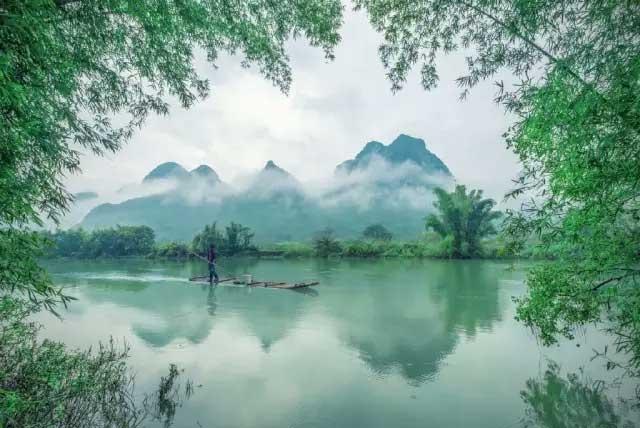 平谷桃花林风景图