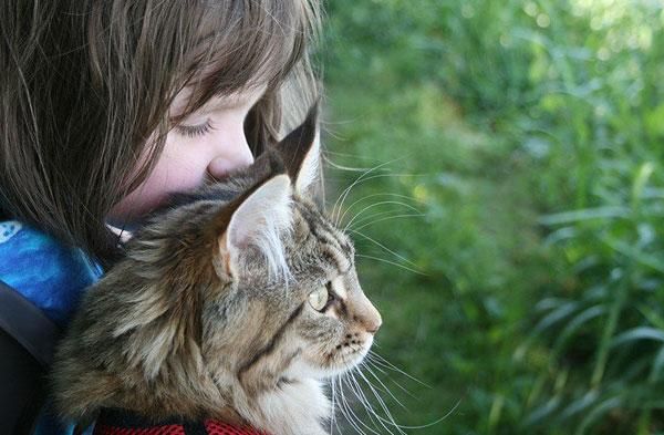 Iris Grace Halmshaw et son chat