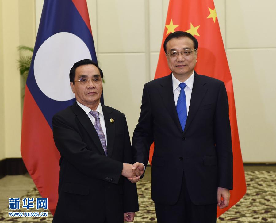 رئيس مجلس الدولة الصيني يلتقي مع رئيس الوزراء اللاوسي