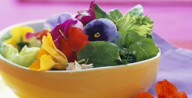 Les fleurs comestibles s