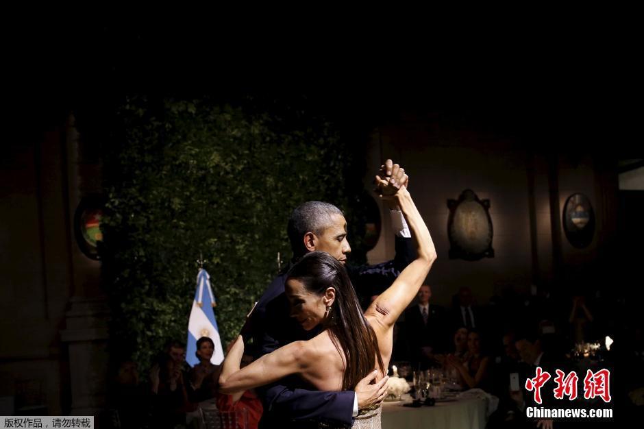 Obama danse le tango en Argentine