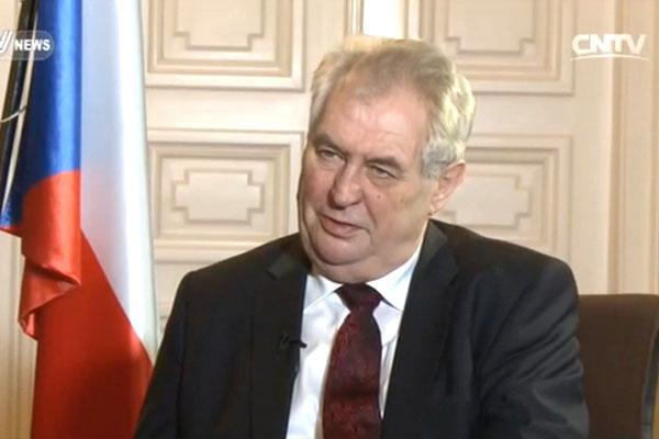 Czech President Milos Zeman.