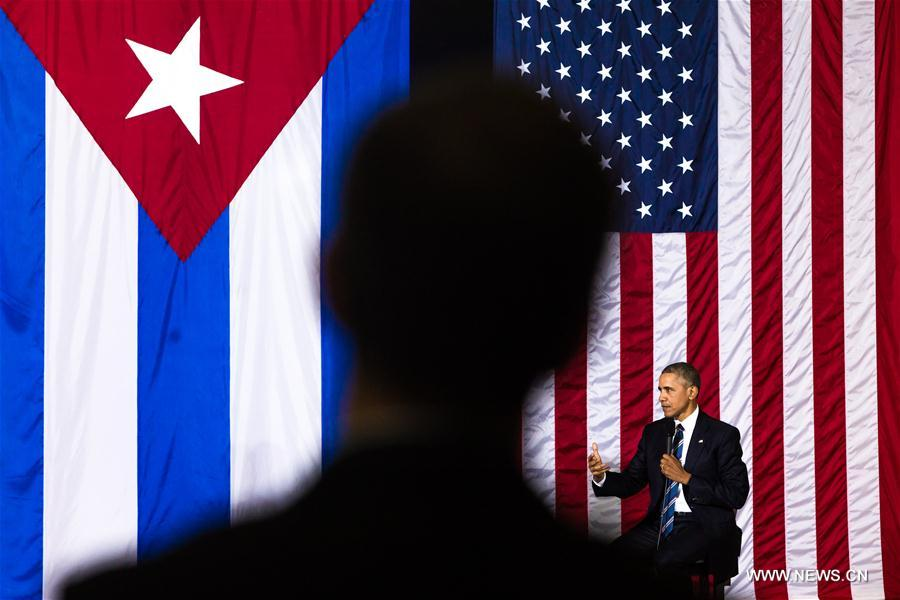 Le président américain Barack Obama parle lors d