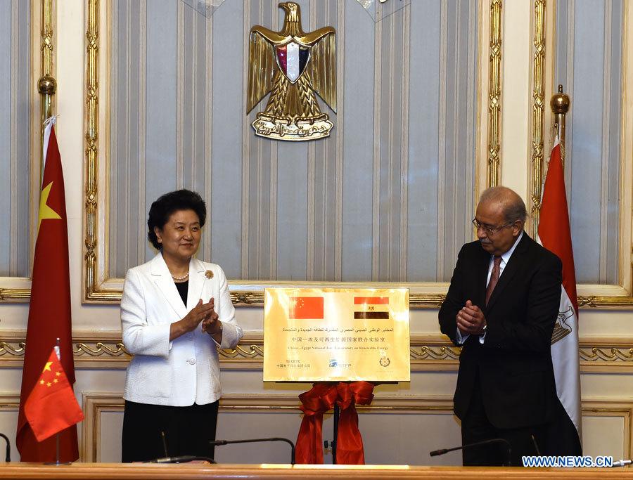 La vice-PM chinoise Liu Yandong rencontre des dirigeants égyptiens pour promouvoir la coopération