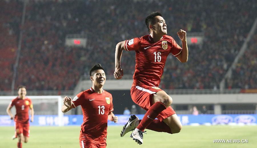 Сборная Китая победила Катар в рамках квалификации на ЧМ по футболу- 2018