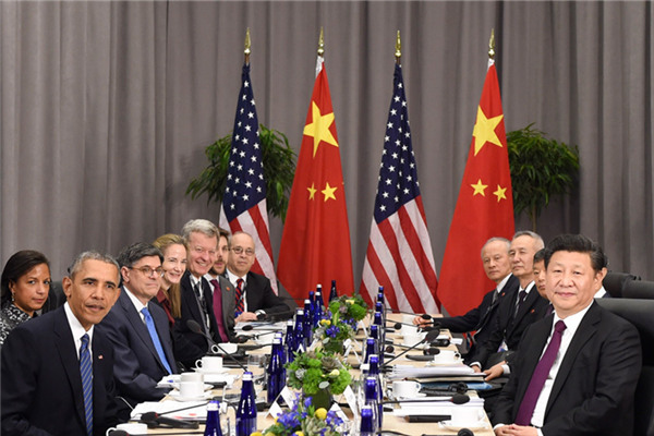 Chinese President Xi Jinping and his US counterpart Barack Obama have met in Washington on the sidelines of the fourth Nuclear Security Summit.
