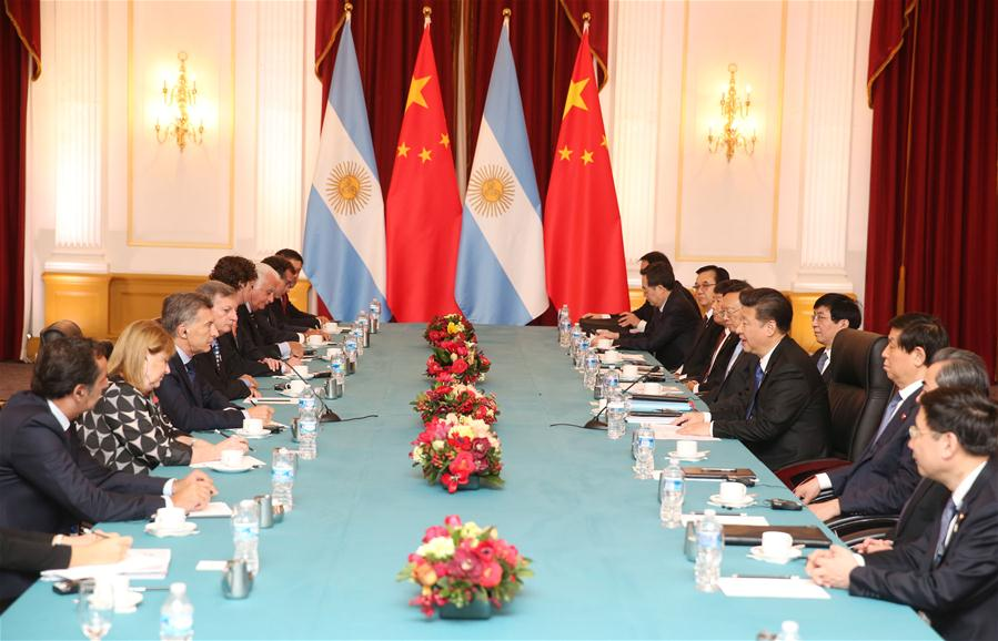 WASHINGTON D.C., April 1, 2016 (Xinhua) -- Chinese President Xi Jinping meets with Argentina