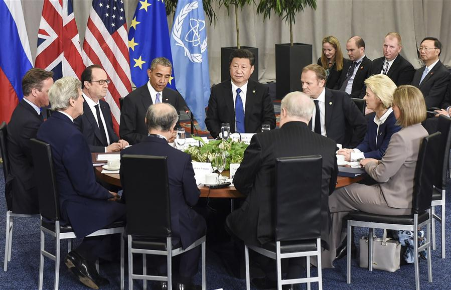 WASHINGTON D.C., April 1, 2016 (Xinhua) -- Chinese President Xi Jinping attends a leaders