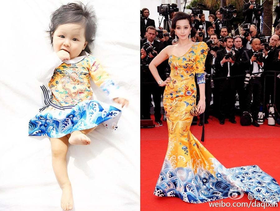 Un bébé habillé comme Fan Bingbing devient une vedette en ligne