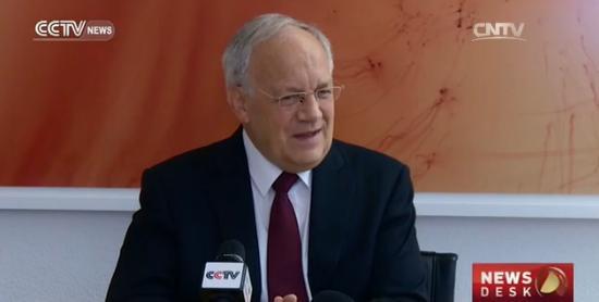 President Schneider-Ammann during interview