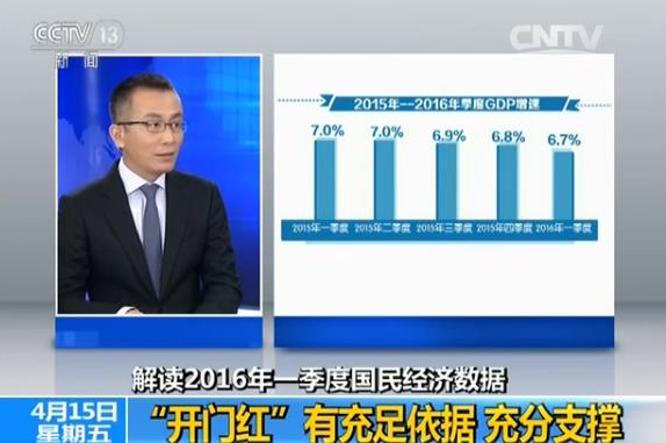 新聞頻道解讀2016年一季度國民經濟數據。