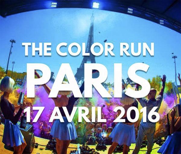 Une course colorée donne des couleurs à Paris le 17 avril