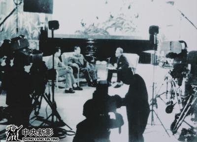 1964年12月,新影摄影师拍摄周恩来总理会见美国著名作家斯诺.jpg