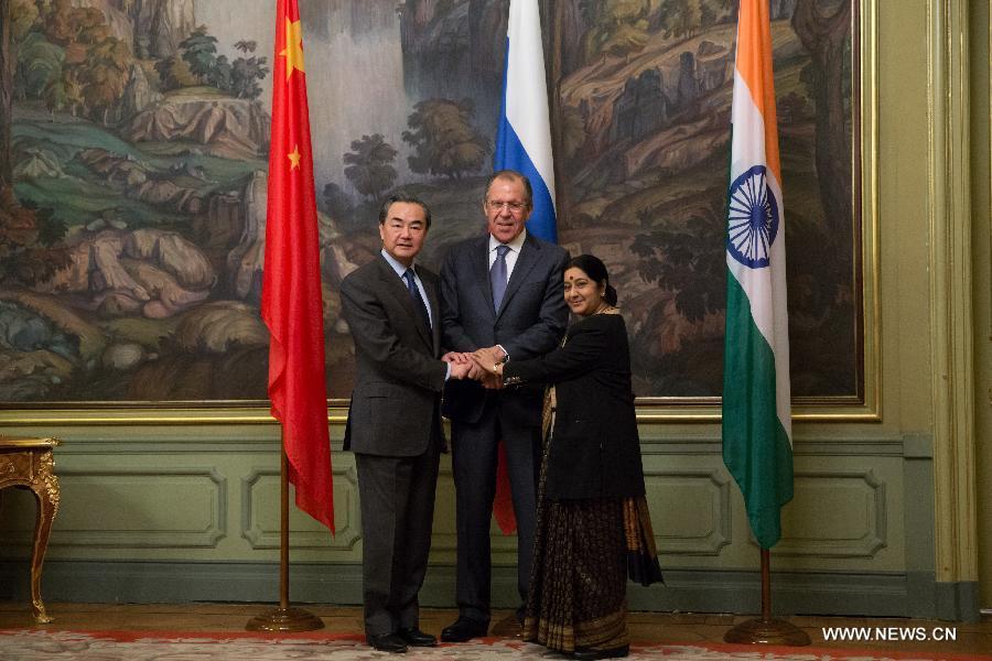 В Москве прошла встреча глав внешнеполитических ведомств России, Китая и Индии