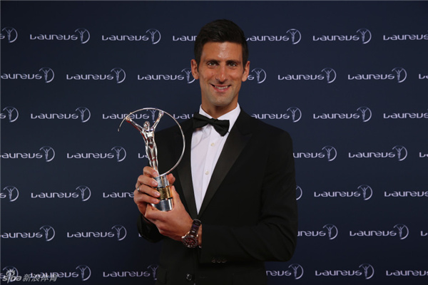 Djokovic earns best male athlete honors