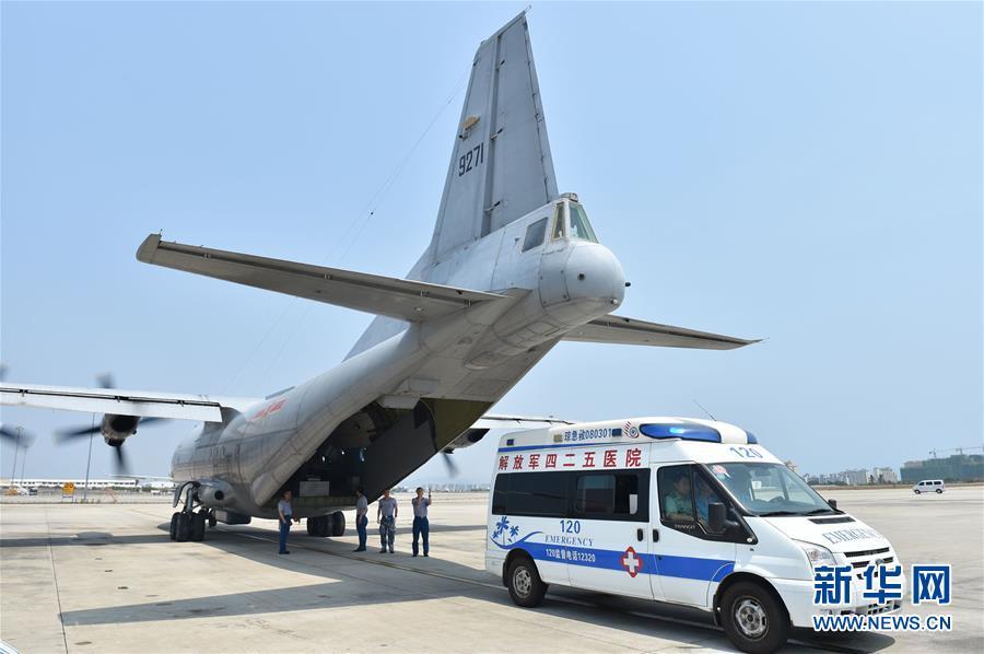МО КНР прокомментировало использование военного самолета для помощи раненым на рифе Юншу