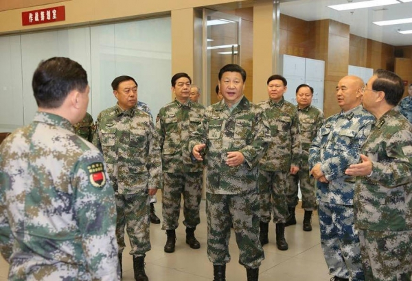 Председатель КНР Си Цзиньпин посетил объединённый командный центр ВС КНР
