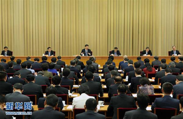 4月22日至23日,全國宗教工作會議在北京舉行。中共中央總書記、國家主席、中央軍委主席習近平發表重要講話。 新華社記者 龐興雷 攝