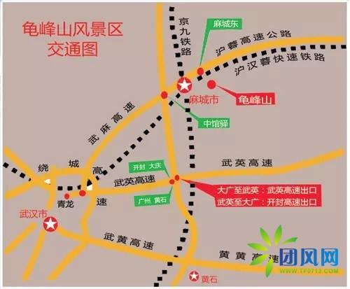 麻城乡镇分布高清地图