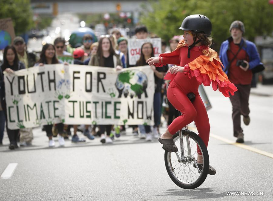 La parade de la Journée de la Terre à Vancouver