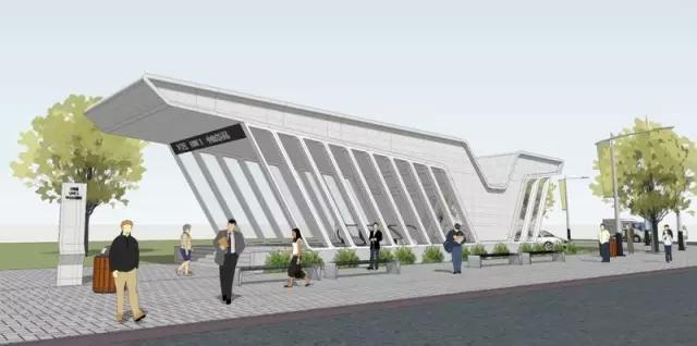 本案的設計靈感來源于白鷺,含凌云展翅,靈動開放之意,將此意象通過建筑的語言重新表達,最終形成地鐵口的造型。 入圍作品15