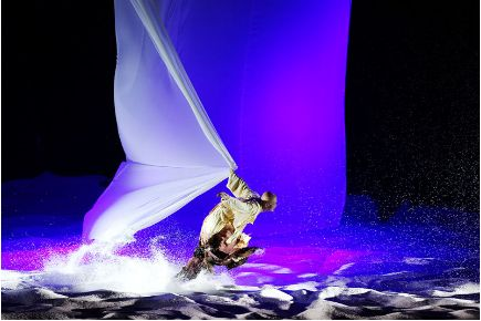 Lights, colour, wind and sand - lots of sand! These are just some of the ingredients creating the spectacular effects of