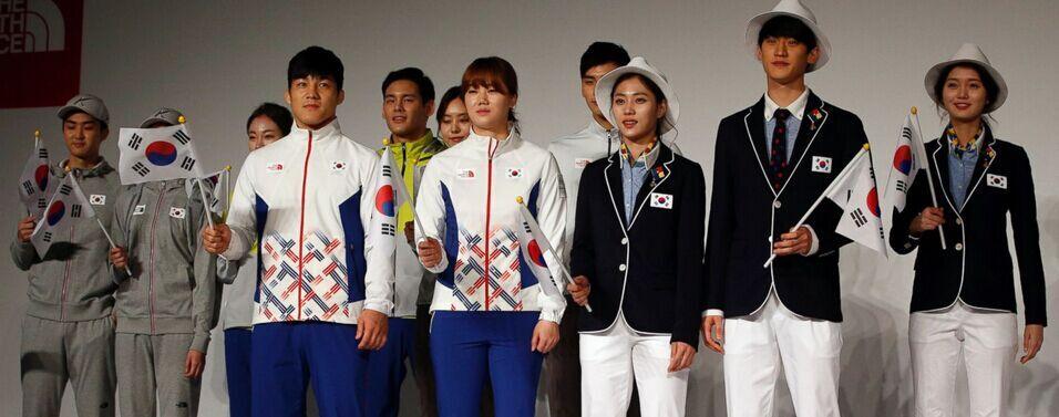 里约运动员展示韩国女生病毒可防蚊虫队服奥运怕怕图片