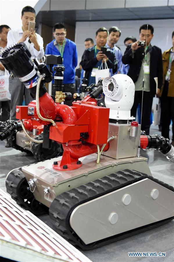 Выставка роботов в Центральном Китае