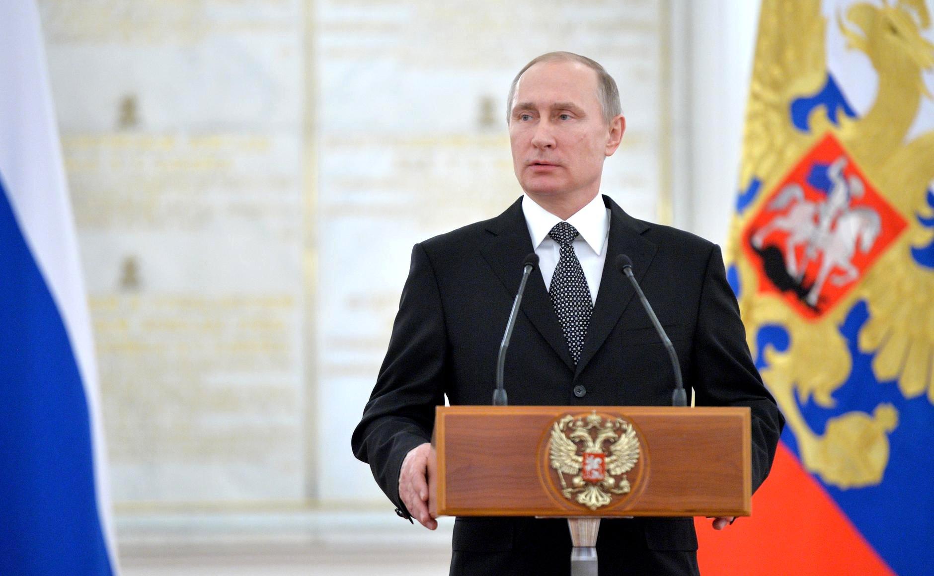 Архивное фото: В.Путин, Президент России