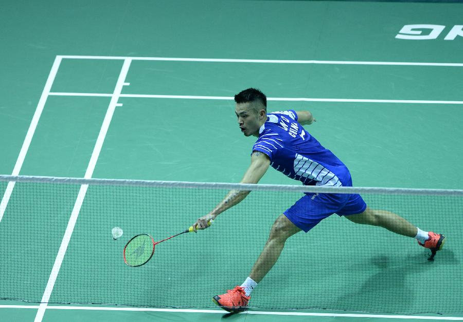 World No.3 Lin Dan, who was rest on the opening day, failed to make a perfect debut as the five-time world champion edged out Lucas Claerbout 20-22, 21-14, 21-8 in the second singles, giving China a 3-0 lead to get the second straight win in Group A. (Xinhua)