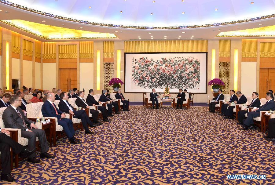 Лю Юньшань встретился с европейскими участниками 5-го форума политических партий Китая и Европы на высоком уровне