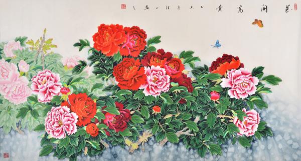 中国国画牡丹大师 名家牡丹作品尽在易从网