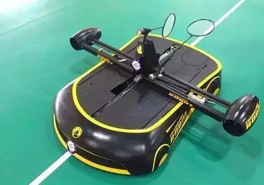 Meet Robomintoner. This is the world's first fully automated badminton robot. It can play as well as any amateur badminton enthusiast.