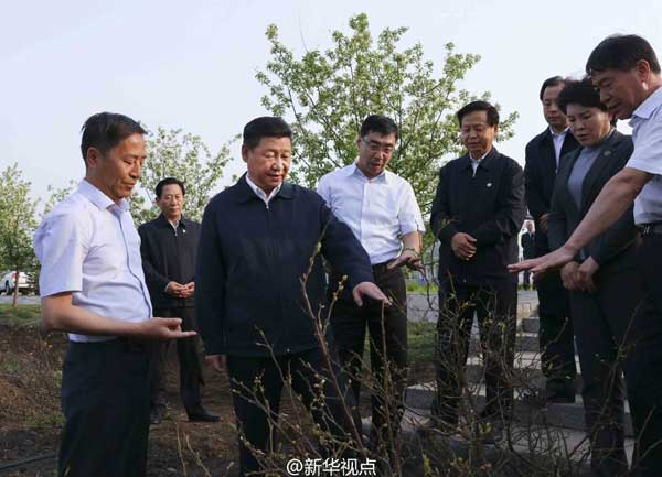 Chinese President Xi Jinping says both ecosystems and people