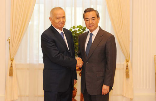 China is willing to work with Uzbekistan to boost strategic partnership and open up new prospects for mutually beneficial cooperation. The visiting Chinese Foreign Minister Wang Yi said during a meeting with Uzbek President Islam Karimov.