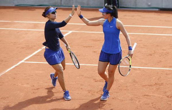 French Open: Chinese pair downs Han & Lepchenko 6-4, 6-4