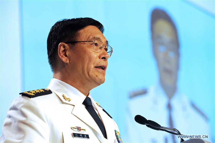 Admiral Sun Jianguo, deputy chief of the Joint Staff Department of China