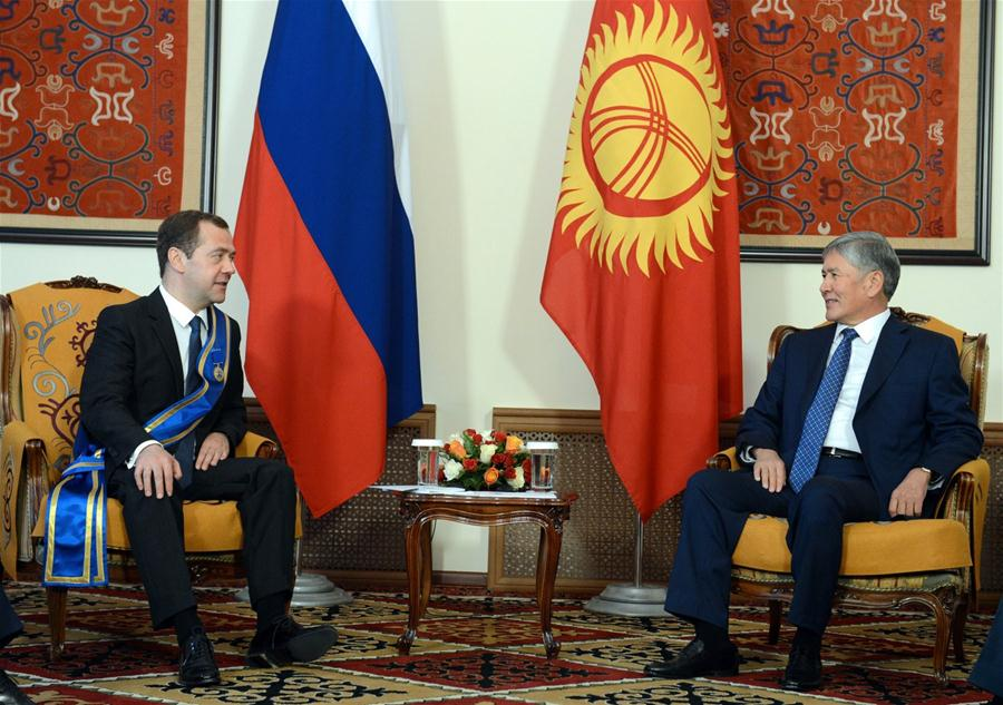 Премьер-министр России Д. Медведев находится с официальным визитом в Кыргызстане