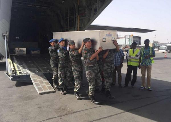 Body of Chinese peacekeeper arrives in Bamako